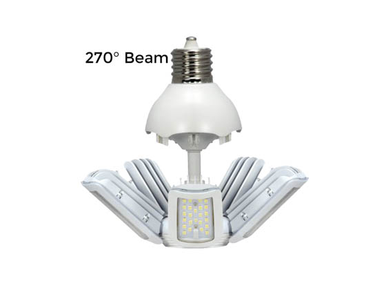 Satco Products, Inc. S29769 75W/LED/HID/MB/5000K/100-277V/EX39 Satco 75 Watt Non-Dimmable Hi-Pro LED Multi-Beam Retrofit Lamp, 5000K, Ballast Bypass