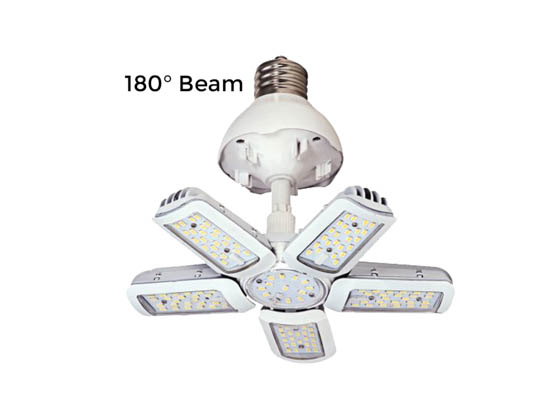 Satco Products, Inc. S29752 60W/LED/HID/MB/5000K/100-277V/EX39 Satco 250 Watt Equivalent, 60 Watt 5000K LED Multi-Beam Retrofit Lamp, Ballast Bypass