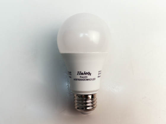 Halco Lighting 81157 A19FR9/840/OMNI2/LED Halco Dimmable 9.5W 4000K A-19 LED Bulb, Enclosed Rated