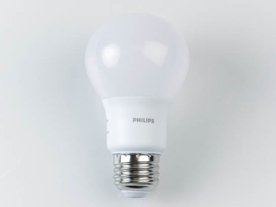 Philips Lighting 479971 9A19/LED/950/P/E26/ND Philips Non-Dimmable 9W 5000K A19 LED Bulb, Title 20 Compliant
