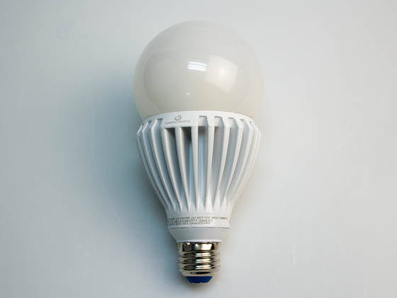 Green Creative 97972 25HID/830/277V/E26 Non-Dimmable 25W 120-277V 3000K A-23 LED Bulb, Enclosed Rated, E26 Base
