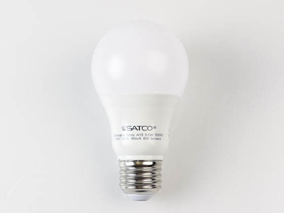 Satco Products, Inc. S29839 9.8A19/OMNI/220/LED/50K Satco Dimmable 9.5W 5000K A19 LED Bulb, Enclosed Rated
