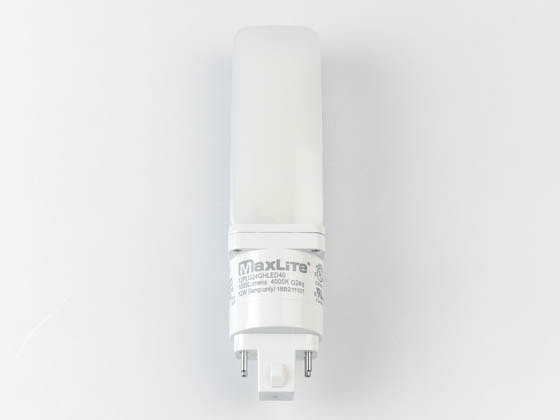 MaxLite 1408686 12PLG24QHLED40 Maxlite 12W Non-Dimmable 4 Pin Horizontal 4000K G24q LED Bulb, Uses Existing Ballast