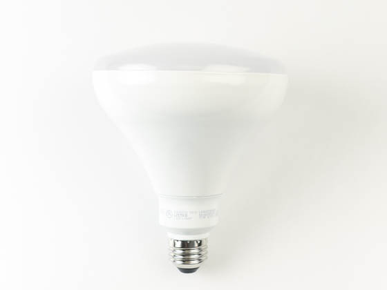 QLS LR40D10030E Dimmable 17 Watt 3000K BR40 LED Bulb, Enclosed Rated