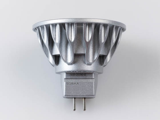 SORAA 00943 SM16-07-36D-927-03 Soraa Dimmable 7.5W, 12V, 95 CRI, 2700K, JA8 Compliant, Enclosed Rated 36° MR16 LED Bulb, GU5.3 Base