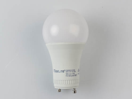 MaxLite 14099415 E15A19GUDLED30/G6 Dimmable 15W 3000K A19 LED Bulb, GU24 Base, Enclosed Rated