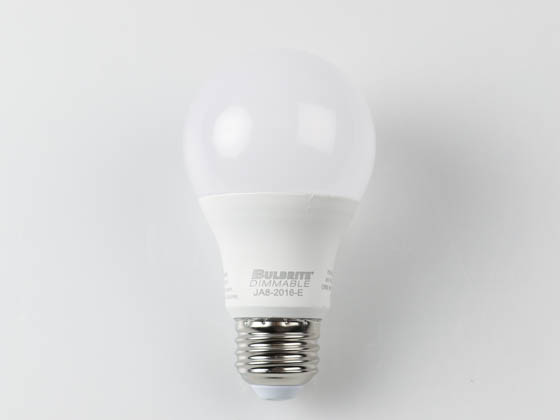 Bulbrite 774100 LED9A19/927/J/D Dimmable 9 Watt 2700K A19 LED Bulb, JA8 Compliant, Enclosed Rated