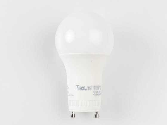 MaxLite 14099409 E9A19GUDLED30/G6 Dimmable 9W 3000K A19 LED Bulb, GU24 Base, Enclosed Rated
