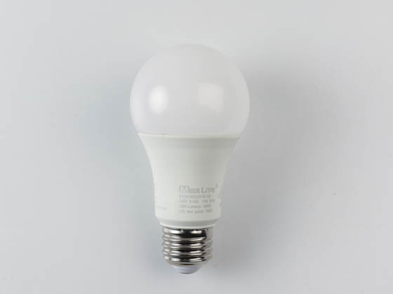 MaxLite 14099404 E15A19DLED40/G6 Dimmable 15W 4000K A19 LED Bulb, Enclosed Rated