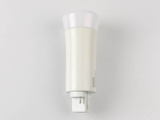 Eiko 09254 LED9W2PV/835DR-G6 9W 2 Pin Vertical 3500K G24d LED Bulb, Uses Existing Ballast