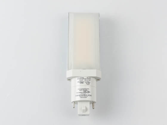 Keystone KT-LED82P-H-850-D Non-Dimmable 8W 2 Pin Horizontal 5000K G24d/G24q LED Bulb, Ballast Bypass