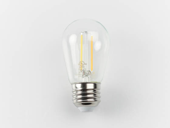 Bulbrite 776851 LED2S14/27K/FIL/3 Dimmable 2.5W 2700K S14 Filament LED Bulb, Rated For Enclosed Fixtures