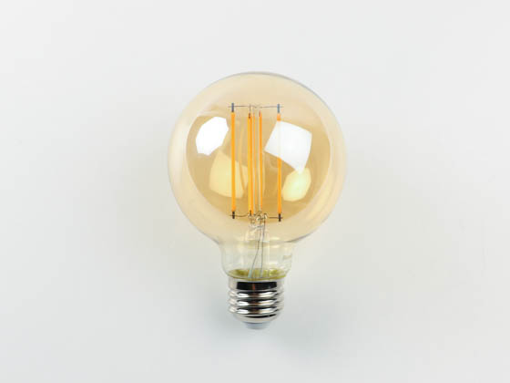 Bulbrite 776800 LED5G25/22K/FIL-NOS/3 Dimmable 5W 2200K Vintage G25 Filament LED Bulb, Outdoor and Enclosed Rated