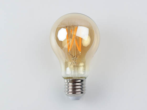 Bulbrite 776802 LED4A19/22K/FIL-NOS/3 Dimmable 4.5W 2200K Vintage A19 Filament LED Bulb, Enclosed Fixture and Wet Rated