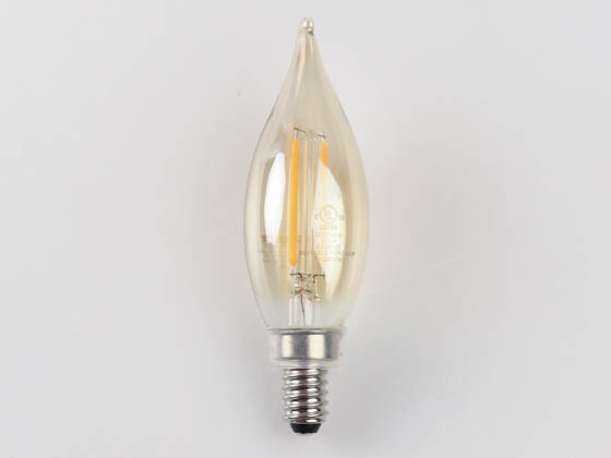 Bulbrite 776803 LED2CA10/22K/FIL-NOS/3 Dimmable 2.5W 2200K Vintage Decorative Filament LED Bulb, Enclosed Rated
