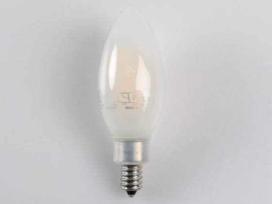 MaxLite 102416 FF4B10D927 Maxlite Dimmable 4W 2700K 94 CRI Decorative Frosted Filament LED Bulb, Enclosed Fixture and Wet Rated, JA8 Compliant