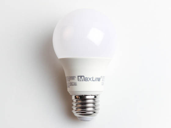 MaxLite 102602 E6A19NDV30 Maxlite Non-Dimmable 6W 3000K A19 LED Bulb, Enclosed Rated