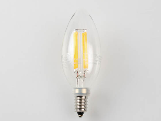 MaxLite 14099267 F4B10D27 Maxlite Dimmable 4 Watt 2700K Decorative Filament LED Bulb, Enclosed Fixture Rated