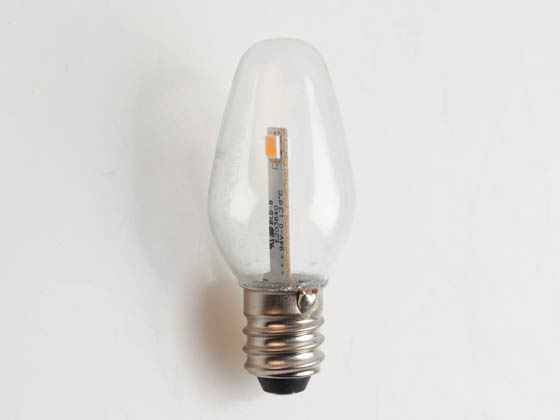Westinghouse 55111 0.75C7/LED/CL/CB/27 2CD Non-Dimmable Clear 0.75W C7 Night Light LED Bulb, Enclosed Rated