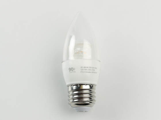 90+ Lighting SE-350.042 Dimmable 4.5W 93 CRI 2700K Decorative LED Bulb, JA8 Compliant