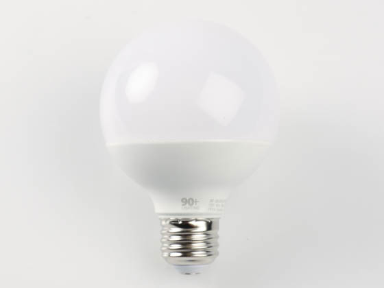 90+ Lighting SE-350.040 Dimmable 7W 3000K 93 CRI G25 Frosted Globe LED Bulb, JA8 Compliant