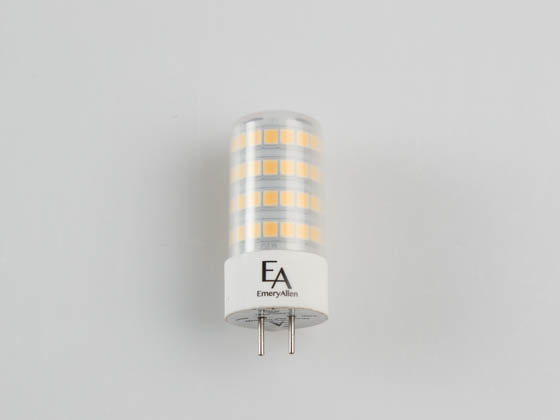 EmeryAllen EA-GY6.35-5.0W-001-409F-D Dimmable 5W 12V 4000K 90 CRI JC LED Bulb, GY6.35 Base, Enclosed Rated