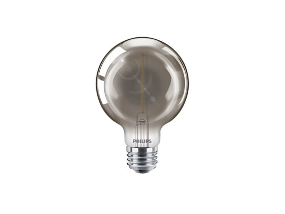 Philips Lighting 543124 4G25/MOD/840/E26/CL/GL/DIM Philips Dimmable 4W 4000K Smokey Finish Filament G25 Globe LED Bulb, Wet Rated