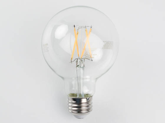 Philips Lighting 549501 3.8G25/PER/927-922/CL/G/E26/WGX1FB T20 Philips Dimmable 3.8W Warm Glow 2700K-2200K 90 CRI G25 Filament LED Bulb, Title 20 Compliant, Wet Rated