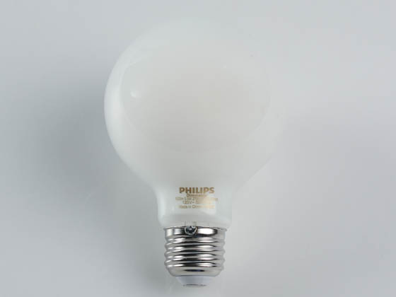 Philips Lighting 549527 3.8G25/PER/927-922/FR/G/E26/WGX T20 Philips Dimmable 3.8W Warm Glow 2700K-2200K 90 CRI G25 Globe LED Bulb, Title 20 Compliant, Wet Rated