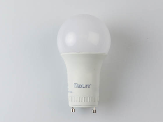 MaxLite 14099412-7 E11A19GUDLED30/G7 Maxlite Dimmable 11W 3000K A19 LED Bulb, GU24 Base, Enclosed Rated