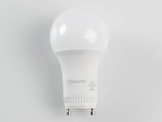MaxLite 14099408-7 E9A19GUDLED27/G7 Dimmable 9W 2700K A19 LED Bulb, GU24 Base, Enclosed Fixture Rated