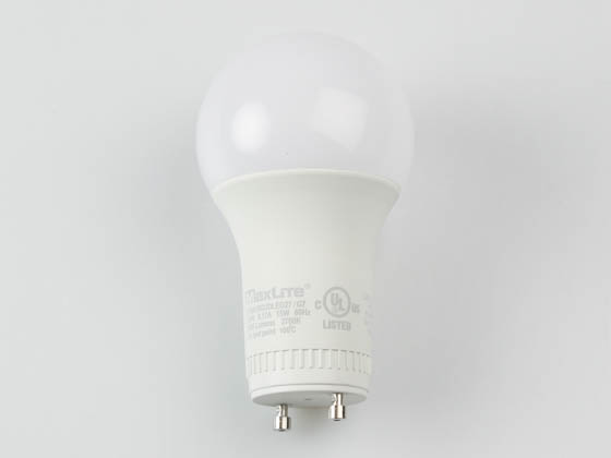MaxLite 14099414-7 E15A19GUDLED27/G7 Dimmable 15W 2700K A19 LED Bulb, GU24 Base, Enclosed Fixture Rated