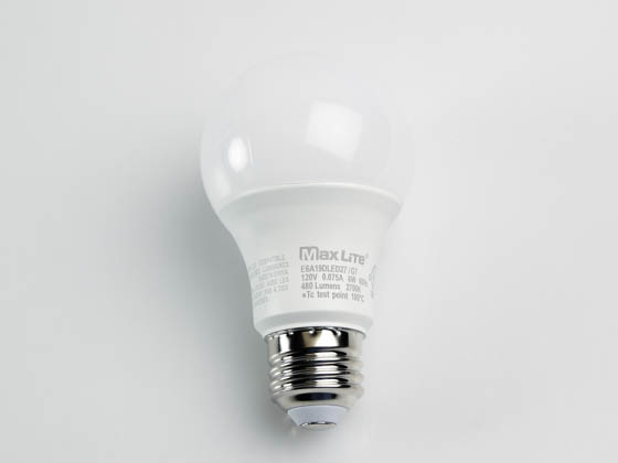 MaxLite 14099390-7 E6A19DLED27/G7 Maxlite Dimmable 6W 2700K A19 LED Bulb, Enclosed Fixture Rated