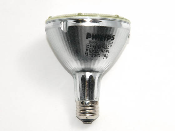 Philips Lighting 426486 MC CDM-R Elite 35W/930 E26 PAR30L 30D Philips 35W PAR30 Long Neck 3000K Metal Halide Flood Lamp, 90 CRI