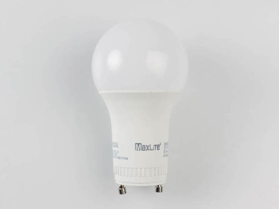 MaxLite 14099407-7 E6A19GUDLED40/G7 Dimmable 6W 4000K A19 LED Bulb, GU24 Base, Enclosed Fixture Rated