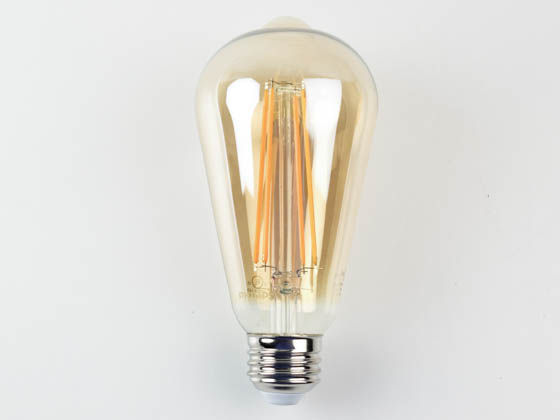 Philips Lighting 537571 5ST19/VIN/820/E26/CL/GL/DIM 4/1BC T20 Philips Dimmable 5W 2000K Vintage ST19 Filament LED Bulb, Wet Rated, Title 20 Compliant