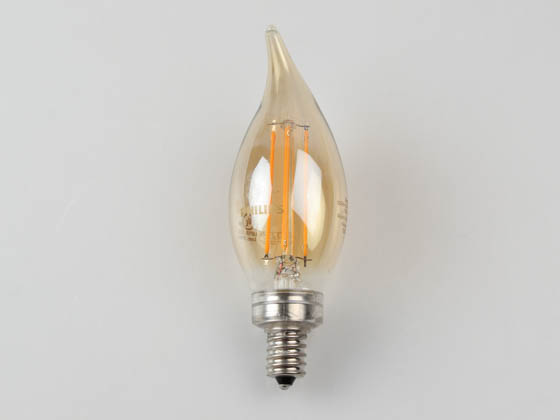Philips Lighting 537613 4.5BA11/VIN/820/E12/CL/GL/DIM 4/1BC T20 Philips Dimmable 4.5W 2000K Vintage Decorative Filament LED Bulb, Wet Rated, Title 20 Compliant