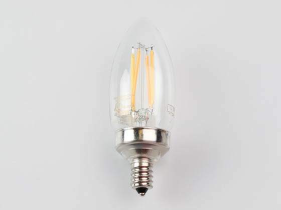 Philips Lighting 549329 2B11/PER/927-922/CL/G/E12/WGX 1FB T20 Philips Dimmable 2W Warm Glow 2700K-2200K 90 CRI Decorative LED Bulb, Wet Rated, Title 20 Compliant