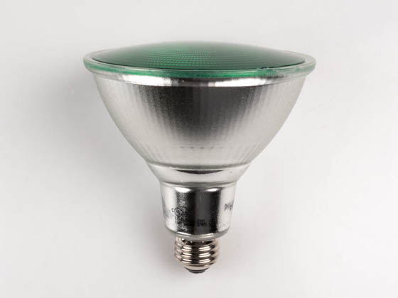 Philips Lighting 469098-2 13.5PAR38/PER/GREEN/ND/ULW/G/120V Philips Non-Dimmable 13.5W Green 40° PAR38 LED Bulb, Enclosed Fixture and Outdoor Rated