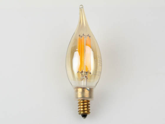NaturaLED 5940 LED4.5CAF/FIL/E12/30L/922 Dimmable 4.5W 2200K 90 CRI Decorative Vintage Filament LED Bulb, Outdoor Rated and JA8 Compliant