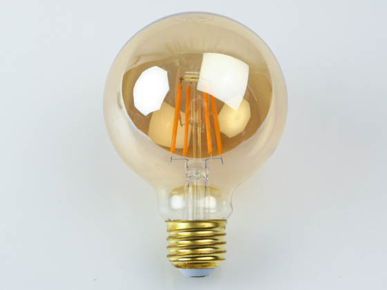 NaturaLED 5942 LED5G25/FIL/35L/922 Dimmable 5W 2200K 90 CRI G-25 Vintage Filament LED Bulb, Outdoor Rated and JA8 Compliant