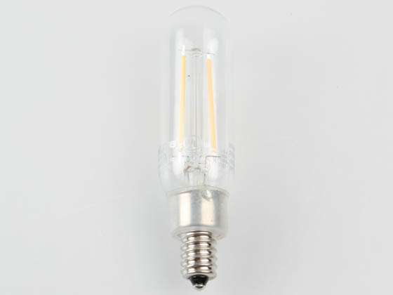 MaxLite 14101689 EF4T8D927/JA8 Maxlite Dimmable 4W 2700K T8 Filament LED Bulb, Enclosed Fixture and Wet Rated, JA8 Compliant
