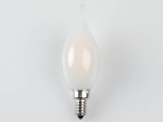 MaxLite 14101730 EFF5BA1027C Maxlite Dimmable 5W 2700K Decorative Frosted Filament LED Bulb, Enclosed Fixture and Wet Rated
