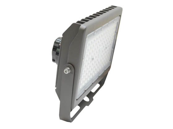 MaxLite 104196 MSF70UW-CSBYRPC Maxlite 175 Watt HID Equivalent, 70 Watt Color Selectable (3000K/4000K/5000K) Slim LED Flood Light Fixture With Yoke Mount and Photocell