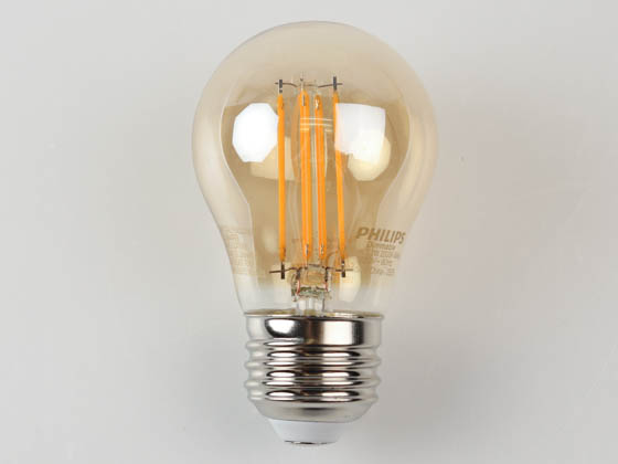 Philips Lighting 556555 3.3A15/VIN/820/E26/CL/GL/DIM 4/1FB T20 Philips Dimmable 3.3W 2000K A15 Filament LED Bulb, Outdoor Rated