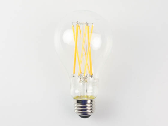 Satco Products, Inc. S11360 14A21/LED/927/CL/120V Satco Dimmable 14 Watt 2700K 90 CRI A21 Filament LED Bulb, Enclosed Fixture Rated, JA8 Compliant