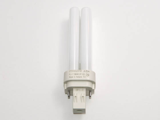 Philips Lighting 383133 PL-C 13W/841/USA/ALTO (2-Pin) Philips 13W 2 Pin GX232 Cool White Double Twin Tube USA CFL Bulb