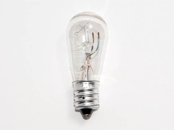 Philips 6w 120v To 130v S6 Clear Sign E12 Base 6s6 120 130v Bulbs Com
