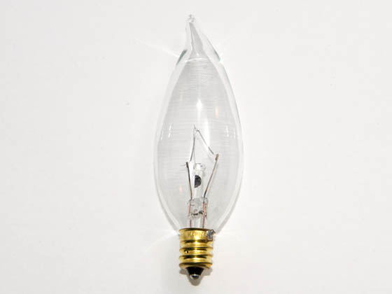 Bulbrite 403040 40CFC/32/3 (130V) 40W 130V Clear Bent Tip Decorative Bulb, E12 Base