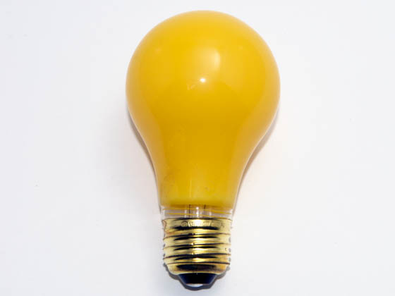 Bulbrite 103040 40A/YB (130V) 40W 130V A19 Yellow Bug Light, E26 Base
